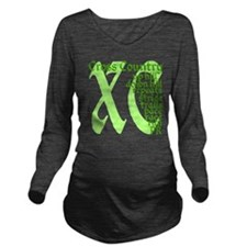 Cross Country XC gre Long Sleeve Maternity T-Shirt