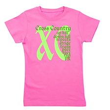 Cross Country XC green Girl's Tee