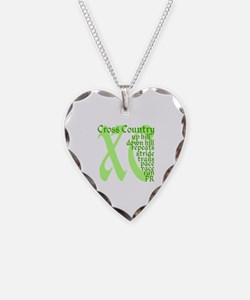 Cross Country XC green Necklace