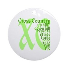 Cross Country XC green Round Ornament