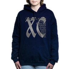 Cross Country XC grey gr Women's Hooded Sweatshirt