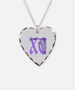 Cross Country XC purple Necklace