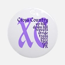 Cross Country XC purple Round Ornament