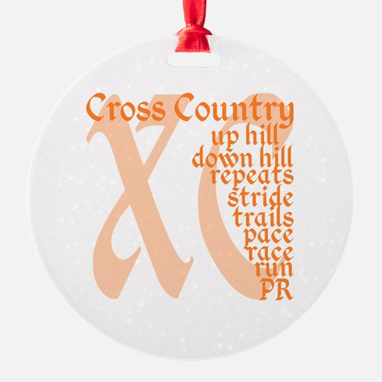 Cross Country XC orange Ornament
