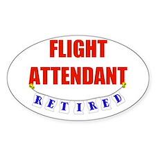 RETIRED FLIGHT ATTENDANT Decal