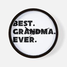 Best Grandma Ever Wall Clock