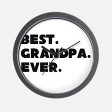 Best Grandpa Ever Wall Clock