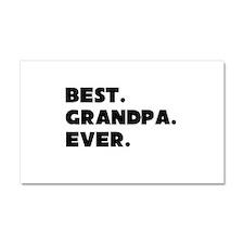 Best Grandpa Ever Car Magnet 20 x 12