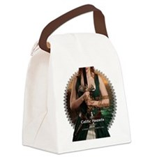 Celtic Hearts Irish Musette Canvas Lunch Bag