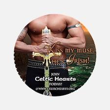 "Celtic Hearts Irish Muse 3.5"" Button"