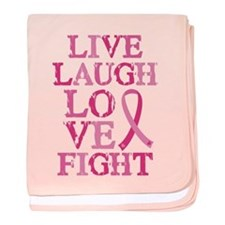 Live Love Fight baby blanket