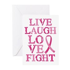 Live Love Fight Greeting Cards (Pk of 20)