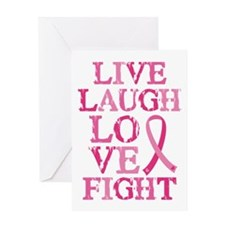 Live Love Fight Greeting Card