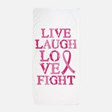 Live Love Fight Beach Towel