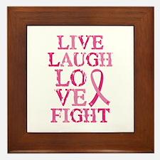 Live Love Fight Framed Tile