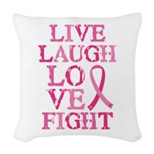 Live Love Fight Woven Throw Pillow