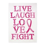 Breast cancer 5x7 Rugs