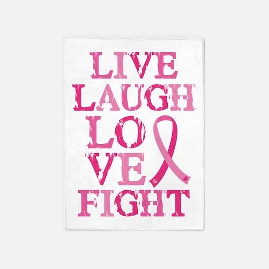 Live Love Fight 5'x7'Area Rug