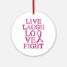 Live Love Fight Ornament (Round)