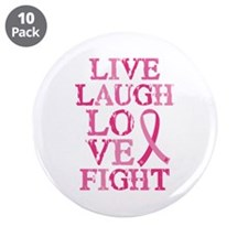 """Live Love Fight 3.5"""" Button (10 pack)"""