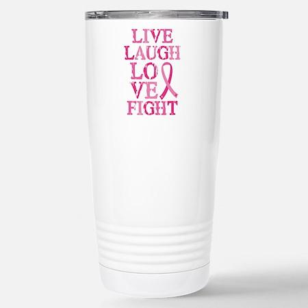 Live Love Fight  16 oz Travel Mug