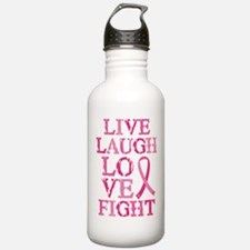 Live Love Fight Water Bottle