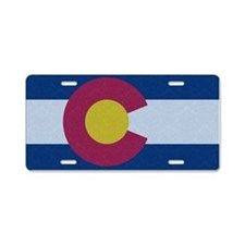 Flag of Colorado Damask Pattern Aluminum License P