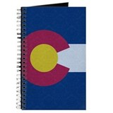 Colorado flag damask Journals & Spiral Notebooks