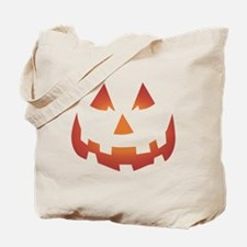 Scary Pumpkin Face Tote Bag