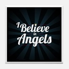 I Believe In Angels - Tile Coaster