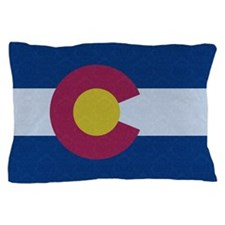 Flag of Colorado Damask Pattern Pillow Case