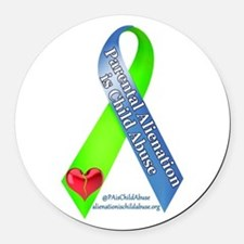 Parental Alienation Ribbon - Round Car Magnet