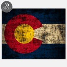Grunge Colorado Flag Puzzle