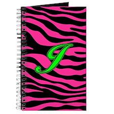 HOT PINK ZEBRA GREEN J Journal