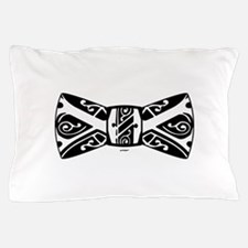 Black and White Bow Tie Pillow Case