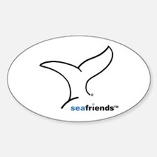 SeaFriends-Whale Tail Oval Decal