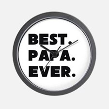 Best Papa Ever Wall Clock