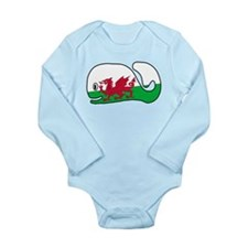 A Wales Whale's Whale Long Sleeve Infant Bodysuit