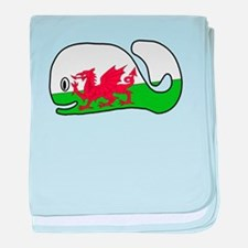 A Wales Whale's Whale baby blanket