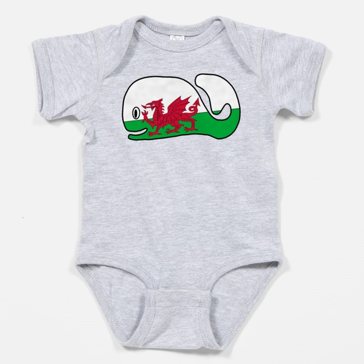 A Wales Whale's Whale Baby Bodysuit