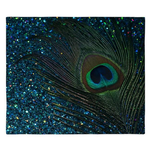 Glittery aqua peacock king duvet by christyoliver for Bathroom wall t shirts australia