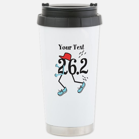 26.2 Optional Text Stainless Steel Travel Mug