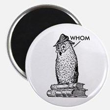 "Grammar Owl Says Whom 2.25"" Magnet (10 pack)"