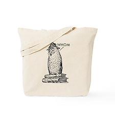 Grammar Owl Says Whom Tote Bag