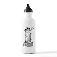 Grammar Owl Says Whom Sports Water Bottle