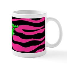 HOT PINK ZEBRA GREEN F Mugs
