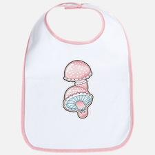 Cute Lace Mushrooms Bib