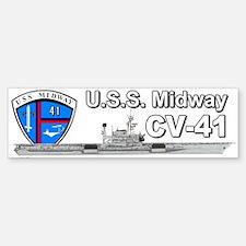 Uss Midway Cv-41 (bumper) Bumper Bumper Bumper Sticker