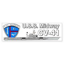 Uss Midway Cv-41 (bumper) Bumper Bumper Sticker