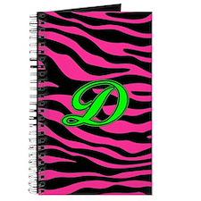 HOT PINK ZEBRA GREEN D Journal